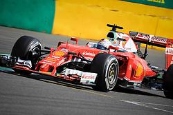 August 28, 2016 - Spa Francorchamps, Belgique - Spa  28/08/2016 GP F1 Belgique/Diamnche/Course/.Vettel N°5 Ferrari (Credit Image: © Panoramic via ZUMA Press)