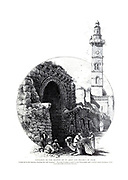 Entrance to the Hospice of St. John and Minaret of Omar, Jerusalem. from the book Picturesque Palestine, Sinai, and Egypt By  Colonel Wilson, Charles William, Sir, 1836-1905. Published in New York by D. Appleton and Company in 1881  with engravings in steel and wood from original Drawings by Harry Fenn and J. D. Woodward Volume 1