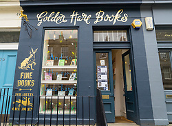 Small independent bookshop , Golden Hare Books, in Stockbridge, Edinburgh, Scotland, UK