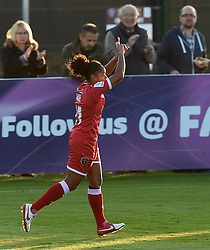 Bristol Academy's Jade Boho Sayo celebrates her goal against Oxford United Women - Mandatory by-line: Paul Knight/JMP - Mobile: 07966 386802 - 27/08/2015 -  FOOTBALL - Stoke Gifford Stadium - Bristol, England -  Bristol Academy Women v Oxford United Women - FA WSL Continental Tyres Cup