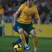 Jason Culina in action during the 2010 Fifa World Cup Asian Qualifying match between Australia and Uzbekistan at Stadium Australia in Sydney, Australia on April 01, 2009. Australia won the match 2-0.  Photo Tim Clayton