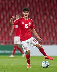 Christian Nørgaard (Danmark) under UEFA Nations League kampen mellem Danmark og England den 8. september 2020 i Parken, København (Foto: Claus Birch).