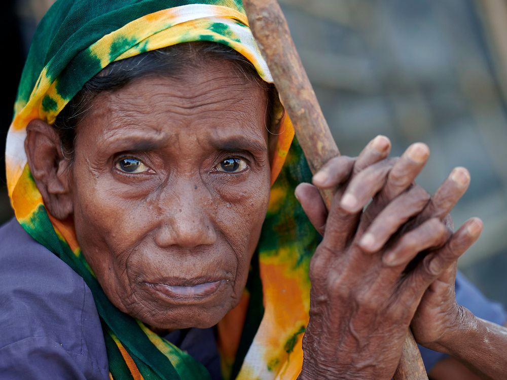 A Rohingya woman in the Jamtoli Refugee Camp near Cox's Bazar, Bangladesh. More than 600,000 Rohingya have fled government-sanctioned violence in Myanmar for safety in Bangladesh.
