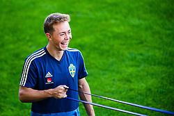 September 5, 2018 - Falkenberg, SVERIGE - 180905 Joel Andersson under en träning med det svenska U21-landslaget i fotboll den 5 september 2018 i Falkenberg  (Credit Image: © Mathias Bergeld/Bildbyran via ZUMA Press)