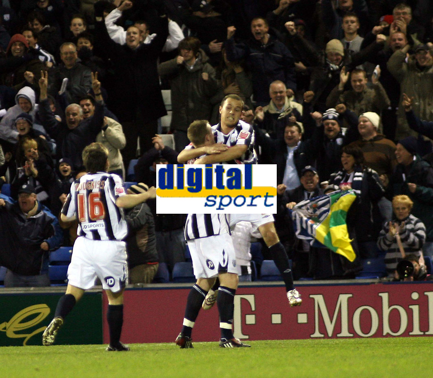 Photo: Mark Stephenson/Sportsbeat Images.<br /> West Bromwich Albion v Coventry City. Coca Cola Championship. 04/12/2007.West Brom's Roman Bednar ( no 9 ) celebrates his goal