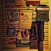 Photo of a an antique United States mailbox in the Streets of Old Milwaukee at the Milwaukee County Museum.