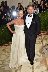 James Corden and Julia Carey attending the Costume Institute Benefit at The Metropolitan Museum of Art celebrating the opening of Heavenly Bodies: Fashion and the Catholic Imagination. The Metropolitan Museum of Art, New York City, New York, May 7, 2018. Photo by Lionel Hahn/ABACAPRESS.COM
