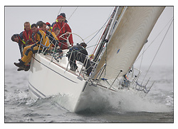 The second days racing at the Bell Lawrie Yachting Series in Tarbert Loch Fyne ...Strong winds, high seas and heavy rain dominated the day...Class one's IRL12345 Tiamat a Mills 40.
