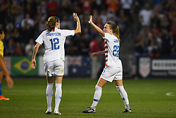 August 2, 2018 - Bridgeview, Illinois, United States - Bridgeview, IL- Thursday August 02, 2018: 2018 Tournament of Nations match between the women's national teams of the United States (USA) and Brazil (BRA) at Toyota Park. (Credit Image: © Brad Smith/ISIPhotos via ZUMA Wire)