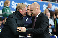 Football - 2017 / 2018 Premier League - Everton vs. Burnley<br /> <br /> Sean Dyche manager of Burnley  and Everton manager Ronald Koeman at Goodison Park.
