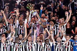 May 9, 2018 - Rome, Italy - Claudio Marchisio of Juventus raises the trophy after the TIM Cup - Coppa Italia final match between Juventus and AC Milan at Stadio Olimpico, Rome, Italy on 9 May 2018. (Credit Image: © Giuseppe Maffia/NurPhoto via ZUMA Press)