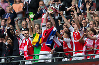 Arsenal's Per Mertesacker lifts the trophy      <br /> <br /> <br /> Photographer Craig Mercer/CameraSport<br /> <br /> The Emirates FA Cup Final - Arsenal v Chelsea - Saturday 27th May 2017 - Wembley Stadium - London<br />  <br /> World Copyright © 2017 CameraSport. All rights reserved. 43 Linden Ave. Countesthorpe. Leicester. England. LE8 5PG - Tel: +44 (0) 116 277 4147 - admin@camerasport.com - www.camerasport.com