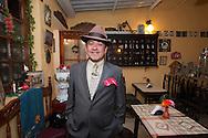Alfredo Ortiz Huertas owner of the restaurant La Puerta Real, Bogotan traditional cuisine and vintage stuff.