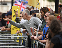 Anti Vax protest, London, UK - 18 Sep 2021<br /> Several Hundred Anti-vax protesters march from Camden to Parliament Square where they threw paint  bombs at the police photo by  Krisztian  Elek