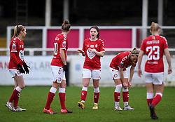 Carla Humphrey of Bristol City Women prior to kick off - Mandatory by-line: Ryan Hiscott/JMP - 30/01/2021 - FOOTBALL - Twerton Park - Bath, England - Bristol City Women v Brighton and Hove Albion Women - FA Womens Super League 1