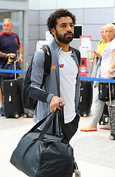 Mohamed Salah and The Liverpool Football Team fly out of Manchester Airport to Hong Kong on Sunday morning.