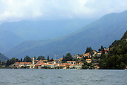 Italy, Lombardy, Lake Como the city of Como as seen from the lake