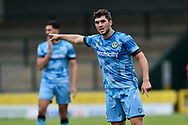 Jordan Moore-Taylor (15) of Forest Green Rovers points during the Pre-Season Friendly match between Yeovil Town and Forest Green Rovers at Huish Park, Yeovil, England on 31 July 2021.