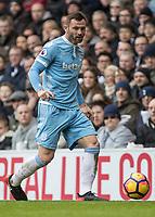Football - 2016 / 2017 Premier League - Tottenham Hotspur vs. Stoke City<br /> <br /> Phillip Bardsley of Stoke City at White Hart Lane.<br /> <br /> COLORSPORT/DANIEL BEARHAM