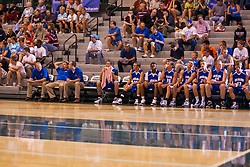25 June 2011: 1a 2a South bench at the 2011 IBCA (Illinois Basketball Coaches Association) boys all star games.