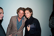 LAPO ELKANN; GINEVRA ELKANN, Private view of the exhibition ' Mother of Pouacrus' by Nicholas Pol. Presented by Vladimir Restoin Roitfeld. The Old Dairy, Wakefield St.  London. 14 October 2010. <br /> <br /> -DO NOT ARCHIVE-© Copyright Photograph by Dafydd Jones. 248 Clapham Rd. London SW9 0PZ. Tel 0207 820 0771. www.dafjones.com.
