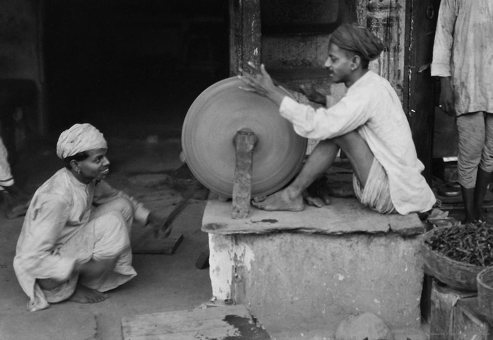 Sword Sharpener, Udaipur, India, 1929