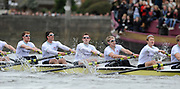 Putney, London, University Boat Race, CUBC, left to right Cambridge, George NASH, Peter McCELLAND, Deaglan McEACHERN, Henry PELLY, Derek RASMUSSEN,   during  the 156th Race, on the Championship Course Putney to Hammersmith  Saturday  03/04/2010 [Mandatory Credit Peter Spurrier/ Intersport Images]