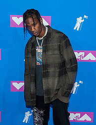 August 21, 2018 - New York City, New York, USA - 8/20/18.Travis Scott at the 2018 MTV Video Music Awards at Radio City Music Hall in New York City. (Credit Image: © Starmax/Newscom via ZUMA Press)