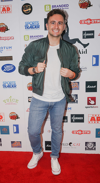 London,England,UK. 14th May 2017. Johny Pach attends the BBL Play-Off Finals also fundraising for Hoops Aid 2017 but also a major fundraising opportunity for the Sports Traider Charity at London's O2 Arena, UK. by See Li