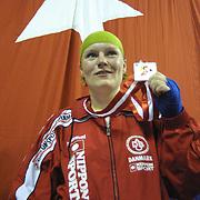 2. WOMEN'S WORLD BOXING CHAMPIONSHIPS.<br /> Denmark's Bettina KARSLEN (N) silver medal. Dilek Sabanci Sport Hall Antalya/Turkey<br /> Photo by Aykut AKICI/TurkSporFoto