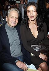 Michael Douglas and Catherine Zeta Jones at New York Fashion Week 12-9-12