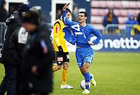 Fotball , 9. april 2012 , Adeccoligaen , 1. divisjon , Sarpsborg - Start 4-4<br /> <br /> Mehmed Divanovic , Sarpsborg etter scoring på overtid