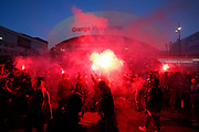 OM fans before the French Championship Ligue 1 football match between Olympique de Marseille and Paris Saint-Germain on October 22, 2017 at Orange Velodrome stadium in Marseille, France - Photo Philippe Laurenson / ProSportsImages / DPPI
