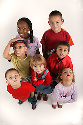 Multiracial group of young kids,