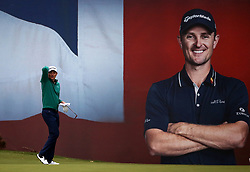 Justin Rose after finishing his round on the 18th during day two of the British Masters at Walton Heath Golf Club, Surrey.
