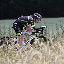 21-06-2017: Wielrennen: NK Tijdrijden: Montferlands-Heerenberg (NED) wielrennen  <br />Tijdrit Junior Vrouwen  <br />Britt Knaven (Strijbeek) onderweg naar brons