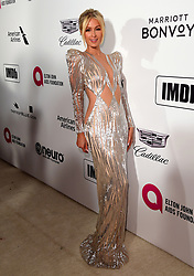 Paris Hilton attending the Elton John AIDS Foundation Viewing Party held at West Hollywood Park, Los Angeles, California, USA.