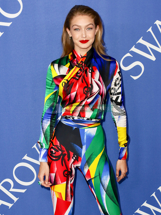 Rosie Huntington-Whiteley is seen attending the 2018 CFDA Fashion Awards at Brooklyn Museum in New York City. NON-EXCLUSIVE June 4, 2018. 04 Jun 2018 Pictured: Gigi Hadid. Photo credit: Nancy Rivera/Bauergriffin.com/MEGA TheMegaAgency.com +1 888 505 6342