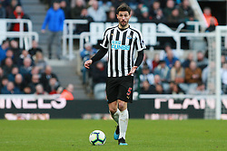 March 9, 2019 - Newcastle Upon Tyne, England, United Kingdom - Newcastle United's Fabian Schar during the Premier League match between Newcastle United and Everton at St. James's Park, Newcastle on Saturday 9th March 2019. (Credit Image: © Steven Hadlow/NurPhoto via ZUMA Press)