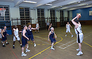 Action from Erkenwald at Eastbury Tigers on Thursday 9th February. This was Tigers' last home game at the Dawson Avenue gym since the School was closing the following day.