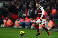 Hector Bellerin of Arsenal in action. Premier league match, Tottenham Hotspur v Arsenal at Wembley Stadium in London on Saturday 10th February 2018.<br /> pic by Steffan Bowen, Andrew Orchard sports photography.