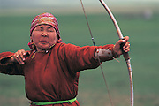 Buryat People's Naadam<br /> Archer<br /> Mongolia
