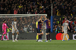May 1, 2019 - Barcelona, Barcelona, Spain - Players of Barcelona icelebrating a goal during UEFA Champions League football match, between Barcelona and Liverpool, Mayl 01th, in Camp Nou stadium in Barcelona, Spain. (Credit Image: © AFP7 via ZUMA Wire)