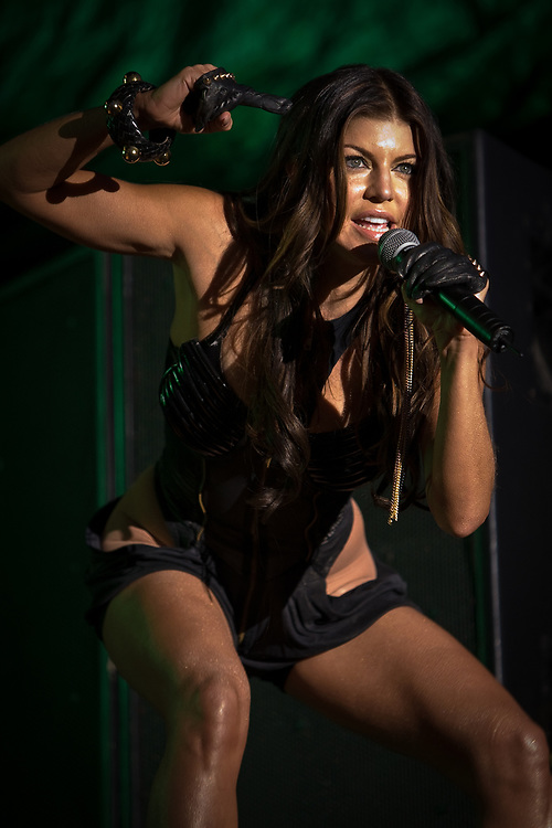Singer FERGIE of The Black Eyed Peas performs at the Jazz Aspen Snowmass Labor Day Festival in Snowmass Town Park.