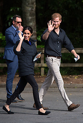 The Duke and Duchess of Sussex leave Redwoods Treewalk, in Rotorua, on day four of the royal couple's tour of New Zealand.