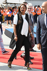 Minister of Sports Laura Flessel arrives to greet Team France players back from Russia at the Roissy-Charles de Gaulle airport on the outskirts of Paris, France, on July 16, 2018 after winning the Russia 2018 World Cup final football match. Photo by ABACAPRESS.COM