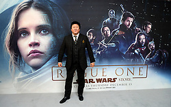 Benedict Wong attending a special screening of Rogue One: A Star Wars Story at the BFI IMAX, London. PRESS ASSOCIATION Photo. Picture date: Tuesday December 13, 2016. See PA story SHOWBIZ Rogue One. Photo credit should read: Ian West/PA Wire