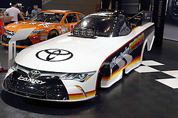 12 February 2015: 2015 Toyota Camry NHRA Nitro FunnyCar to be driven by Brian Vickers.<br /> <br /> First staged in 1901, the Chicago Auto Show is the largest auto show in North America and has been held more times than any other auto exposition on the continent. The 2015 show marks the 107th edition of the Chicago Auto Show. It has been  presented by the Chicago Automobile Trade Association (CATA) since 1935.  It is held at McCormick Place, Chicago Illinois