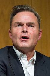 © Licensed to London News Pictures. 19/03/2015. London, UK. UKIP member, Peter Whittle answering questions at the Pink News LGBT election debate held at the Welcome Collection in central London. Photo credit : Vickie Flores/LNP