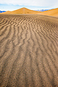 Sand print design and patterns in Death Valley National Park, California